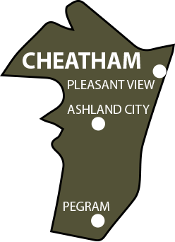 Cheatham County, TN Map