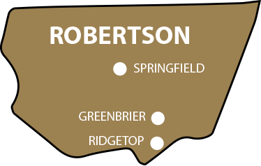 Robertson County TN Map